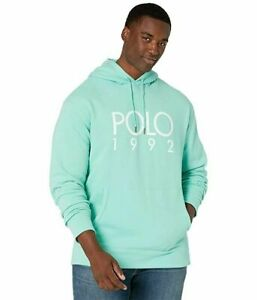 Polo-Ralph-Lauren-Men-039-s-SZ-2XL-Fleece-Graphic-1992-Hoodie-Mint-Green-White