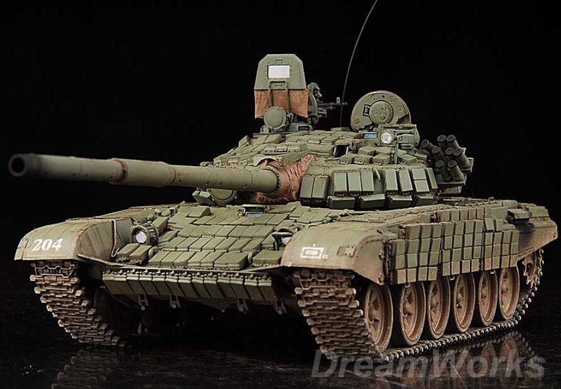 Award Winner Built Trumpeter 1 35 T-72B1 MBT w Kontakt-1 Reactive Armor +PE