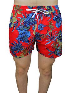 De Cortos Bermudas Shorts Bañador Hombre Slim Detalles Floral Pantalones Fit Rojo Diamond dWerCoxB