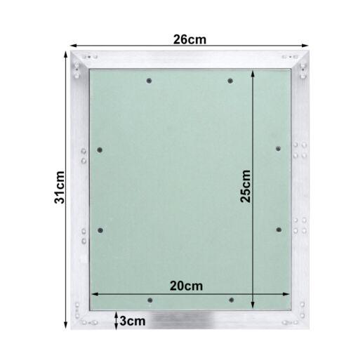 Revisionsklappe Aluminium-Rahmen Gipskarton Revisionstür Wartungsklapp grün Alu