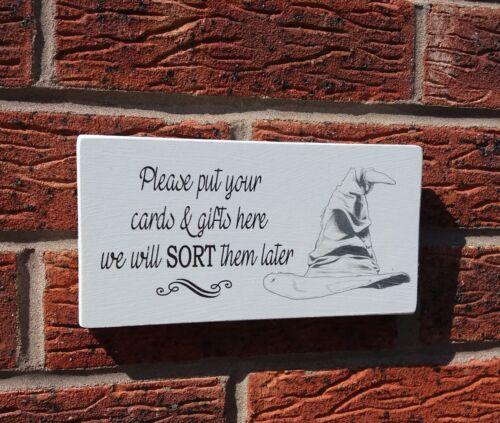 Harry Potter mariage merci pour vos cartes cadeaux Tri Chapeau Signe Plaque