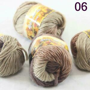 Sale Lot 8 Skeins NEW Knitting Yarn Chunky Hand-woven Colorful Wool scarves 21
