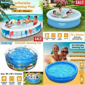 Inflatable Family Swimming Pool Summer Lounge Kids Child Water Play Fun Backyard