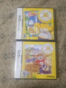 Build-a-Bear-Workshop-Hugsville-Nintendo-DS-Lite-3DS-2DS-2-Game-Lot-Tested