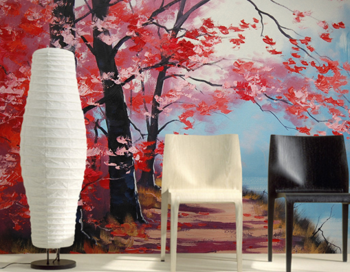 3D Maple Leaf Riber Paint 85 Paper Wall Print Wall Decal Wall Deco Indoor Murals