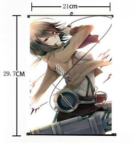 HOT Japan Anime Attack on Titan Survey Corp Cool Home Decor Poster Wall Scroll