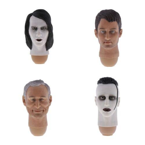 Simulation 1//6 Male Handsome Head Sculpture Models for 12/'/' Action Figures