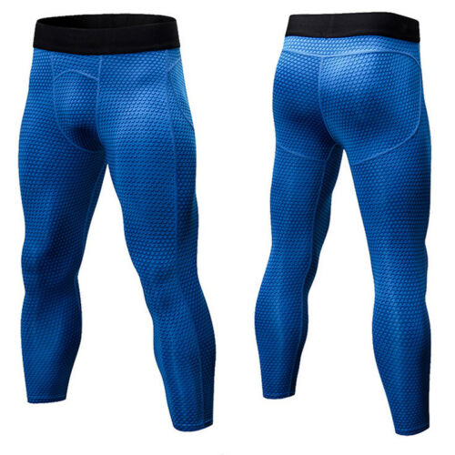 Mens Gym Compression Skins Pants Base Layer Under Tights Sports Running Trousers