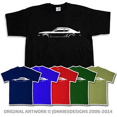 Retro 70s Ford Capri Mk1 Rs 3100 Style T-shirt - Choose From 6 Colours (s-xxxl)