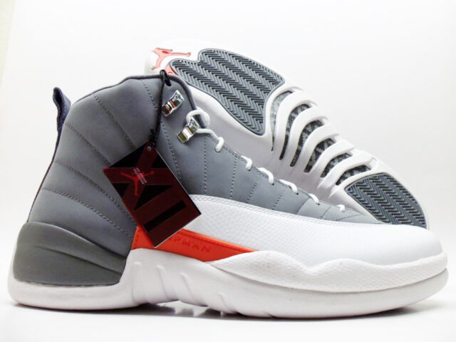 new concept 862a1 b9e32 Nike Air Jordan 12 Retro Cool Grey/white-orange Size Men's 13 130690-012