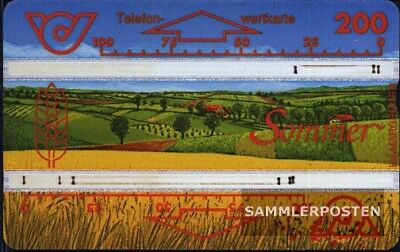 AnpassungsfäHig Österreich 380 200einheiten Gebraucht Sommer Reinweiß Und LichtdurchläSsig Telefonkarten Motive