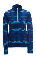 Aeropostale Blue Printed Half Zip Fleece Pull Over Jacket Coat (a1-4)