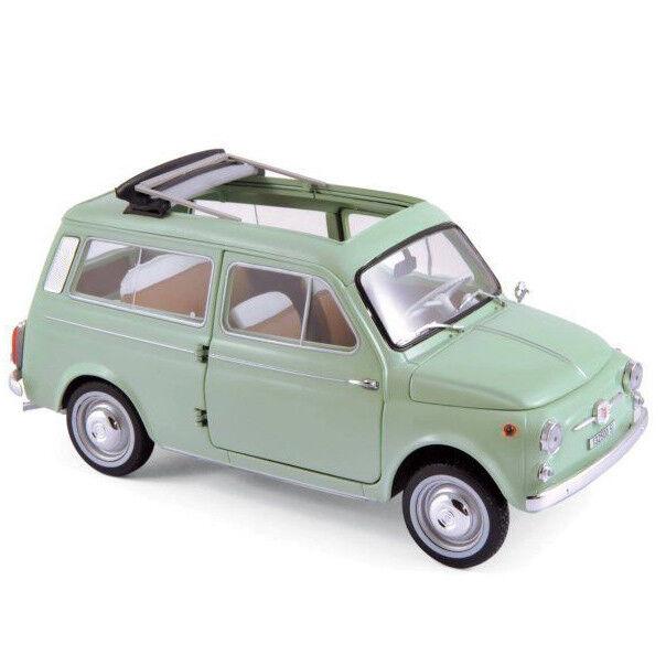Norev 187723 1962 Fiat 500 Giardiniera 1 18  Model voiture lumière vert  vente de sortie