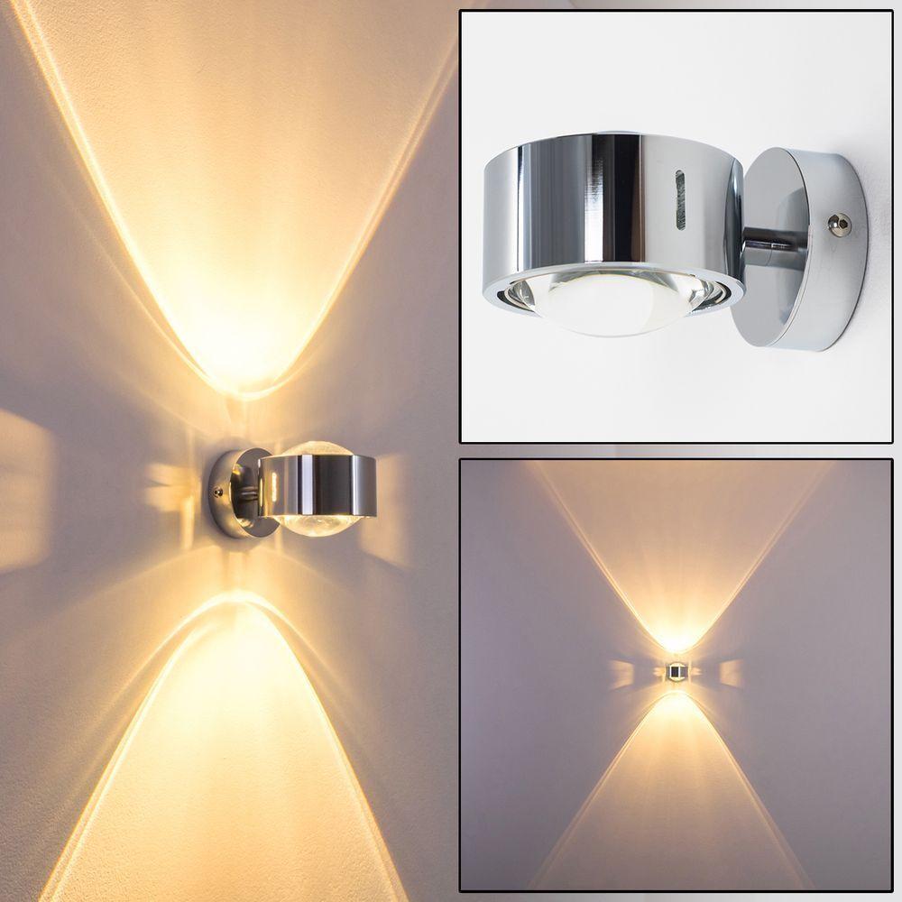 Design cucina corridoio lampade cromo Lampada da parete salotto camera luci up and down