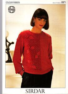 Analytique Knitting Pattern, De Cette Dame Pull, 30-40 In, Sirdar 8971-afficher Le Titre D'origine