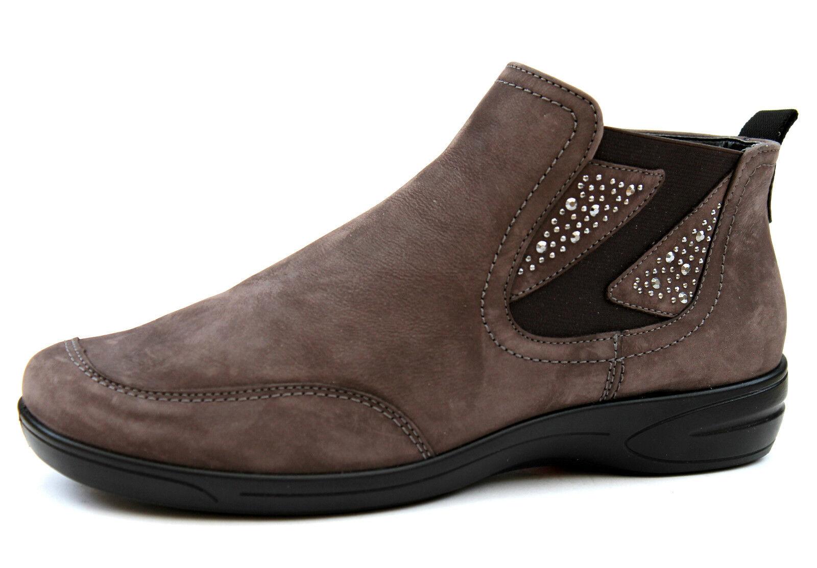 Ara UK 4.5 4.5 4.5 Mink Suede Leather Zip Up Embellished Elasticated Ankle Stiefel 36de07