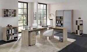 arbeitszimmer schreibtisch b rom bel komplett set office profi eiche sonoma nb ebay. Black Bedroom Furniture Sets. Home Design Ideas