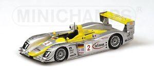 Les vainqueurs de l'Audi R8 Alms Petit Le Mans 2002 Capello au 1/43 modèle Minichamps
