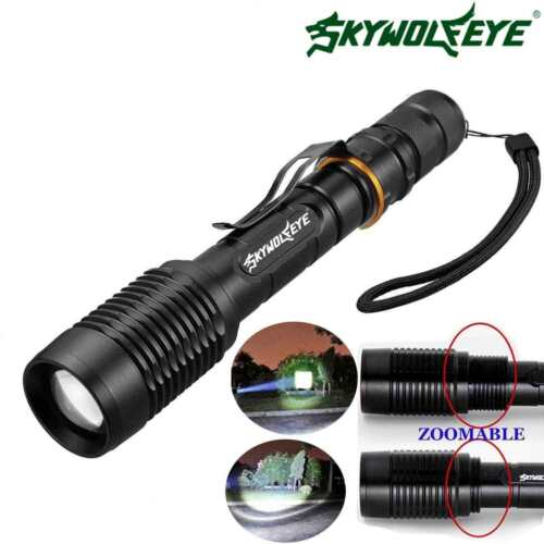 Charger Zoomable 80000 Lumens High Power T6 LED Flashlight Torch 18650 Battery