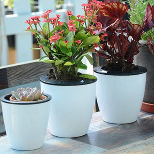 Fashioable Automatic Self Watering Flower Plants Pot Put In Floor Gardening q5
