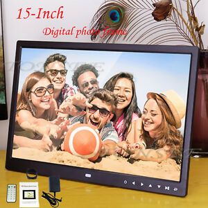 15-034-Inch-HD-16-9-Digital-Photo-Frame-Picture-LED-Alarm-Clock-MP4-SD-USB-TXT-file