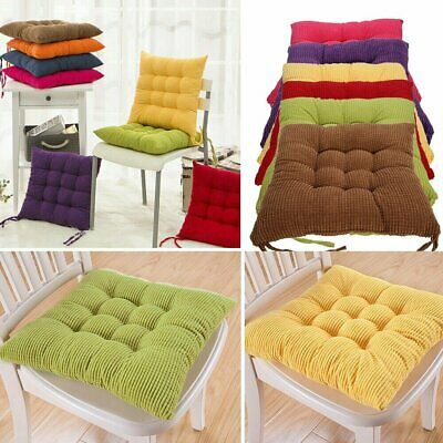 Set of 4 Seat Pads Dining Room Garden Kitchen Chair Cushion Patio Indoor  Outdoor