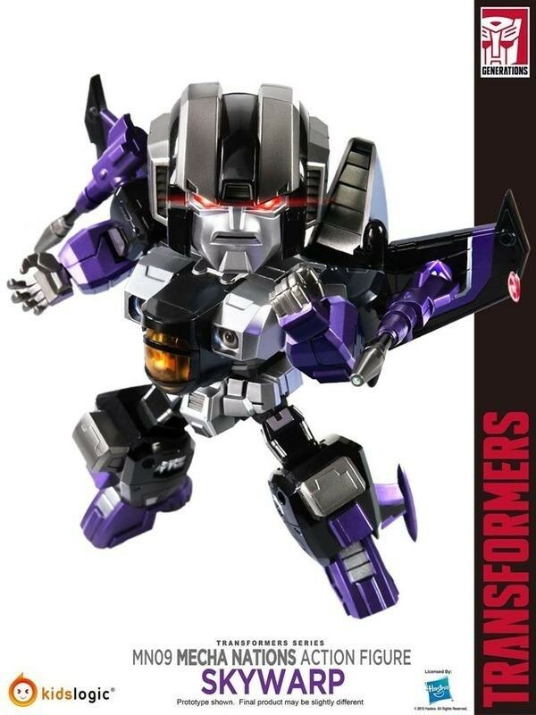 Kids Logic 2015 Mecha Nation Transformers 6  Skywarp MN09 LED Action Figure