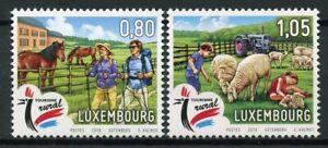 Luxembourg-2019-neuf-sans-charniere-tourisme-rural-Chevaux-Moutons-2-V-Set-Animaux-de-la-ferme