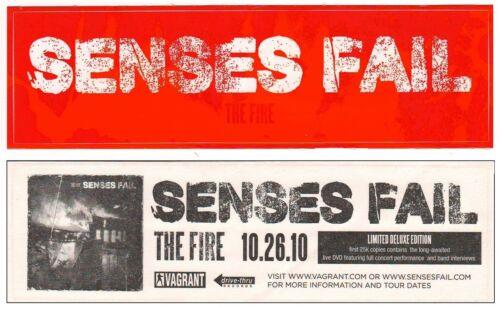 FREE Punk Rock Stickers! SENSES FAIL The Fire Ltd Ed Discontinued RARE Sticker