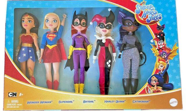 DC Super Hero Girls-5Pack-WonderWoman-Supergirl-Batgirl-HarleyQuinn-Catwoman