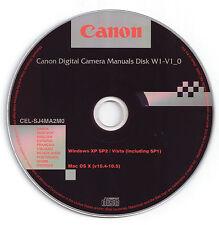 Cámara Digital Canon manuales de disco para PowerShot A1000 es, A2000 es & SX110 es