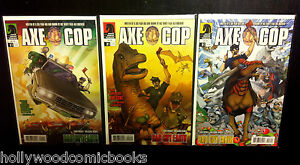 AXE-COP-BAD-GUY-EARTH-1-3-2-Complete-Dark-Horse-Comics-Lot-Nicolle-2011-VF