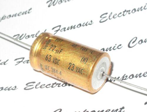 1pcs-Roederstein EGT 22uF 63V Axial Hi-Fi Audio Electrolytic Capacitor BP 22µF