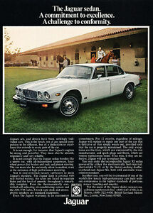 1977 Jaguar XJ XJ12 V12 Brown Vintage Advertisement Ad