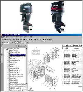 Yamaha Outboard Full Parts Manual Cd 84 02 Bookmarked Ebay