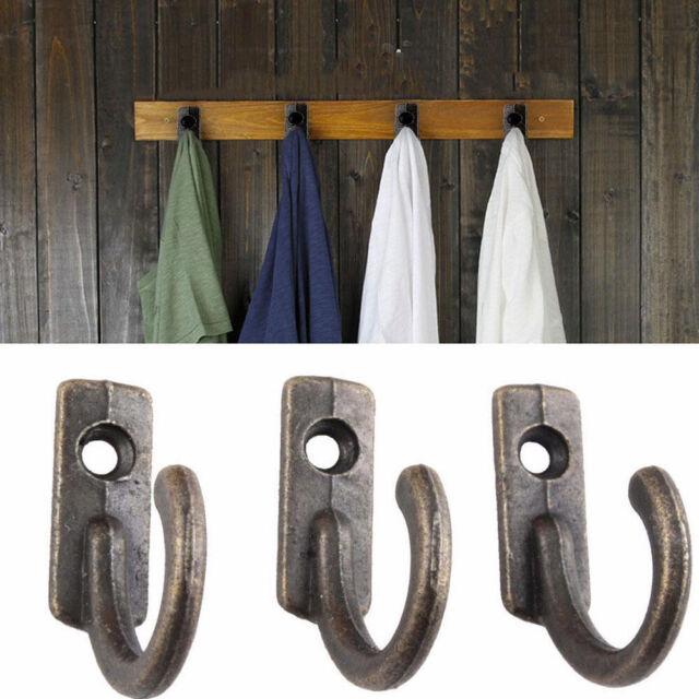 10x Antique  Wall Mounted Hooks Key Holder Letter Zinc Alloy Rack Hanger Hanging