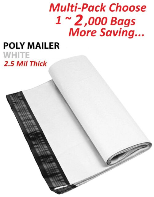 50 19X24 WHITE POLY MAILERS SHIPPING ENVELOPES BAGS