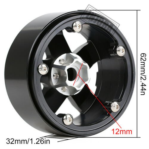 4PCS Metal 2.2 Beadlock Wheel Rim for 1//10 RC Axial SCX10 90046 RR10 Wraith TRX4
