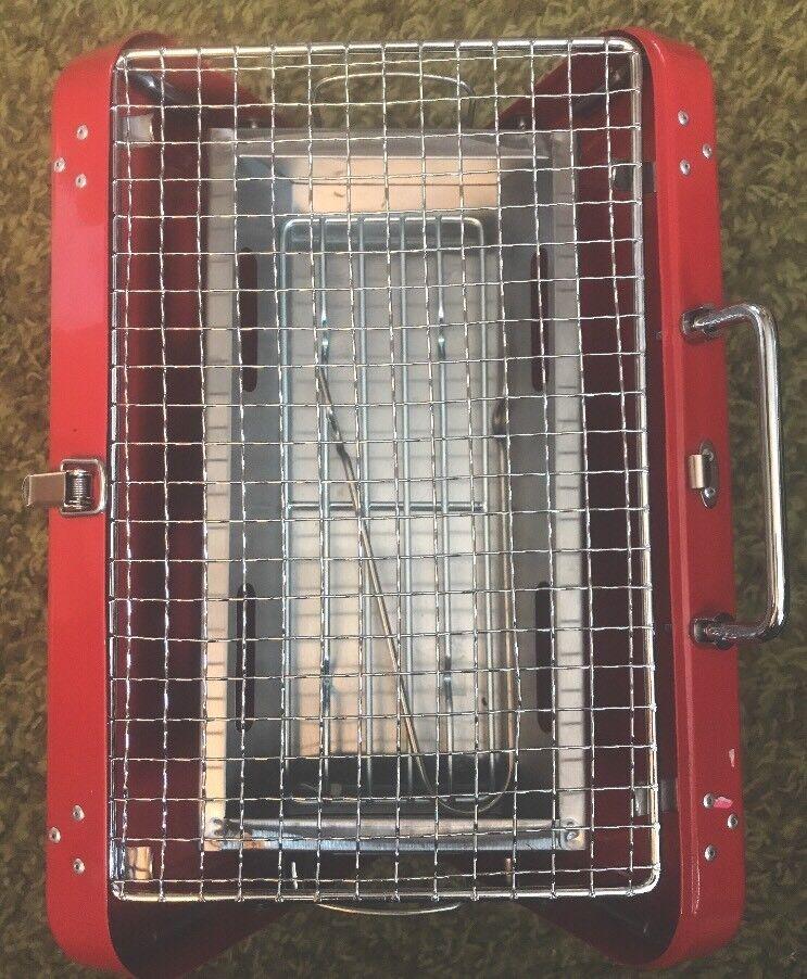 Kikkerland BQ01-RD Portable BBQ Suitcase with Shelf Wear - FREE SHIPPING