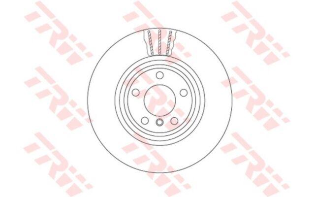 1x TRW Disco de Freno Trasero Ventilado 345mm DF6602S