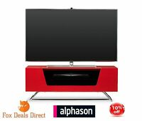 Alphason Chromium 1000 High Gloss Red Tv Stand Cabinet & Shelf For Up To 50 Tvs