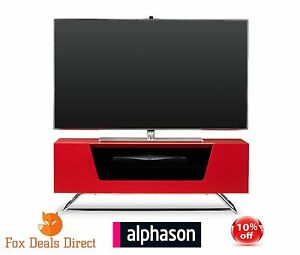 Image Is Loading Alphason Chromium 1000 High Gloss Red TV Stand