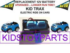 NEW! LONG LASTING MINI COOPER CAR KID TRAX 12V 15AH  BATTERY BLUE W/PLUG