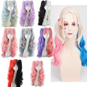 Fashion-Lolita-Full-Curly-Wigs-Pigtails-Wavy-Hair-Cosplay-Costume-Anime-Party