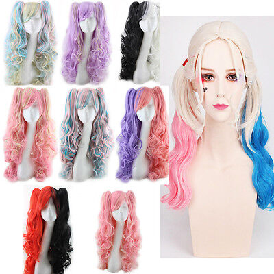 Pink Anime Cosplay Costume Wig w// Curly Pigtails