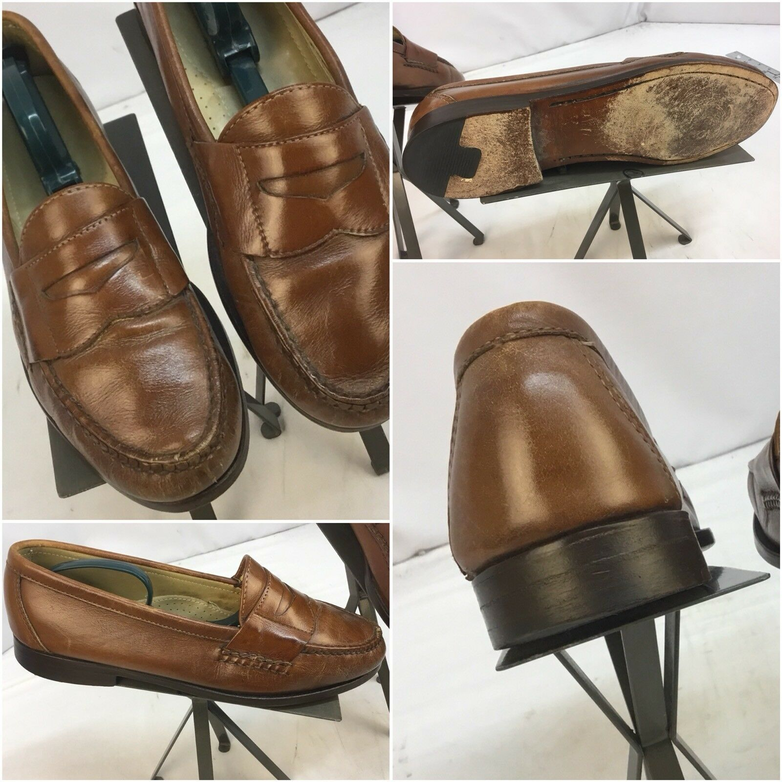 Cole Haan Loafers Scarpe Sz 9.5 D marrone Made In USA Worn 3 Times YGI J7