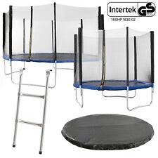 Trampolin Gartentrampolin mit Sicherheitsnetz Leiter Komplett Set Intertek/GS
