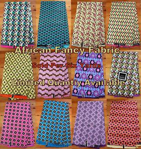 African-Fancy-Print-Fabric-Bright-Colors-Ghanian-Daviva-Fabric-16-99-per-6-yard