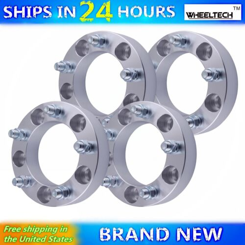 """4pc 2002-2010 Dodge Ram 1500 Wheel Spacers 1.5/"""" Thick 5x5.5 with 9//16/""""-18 Studs"""