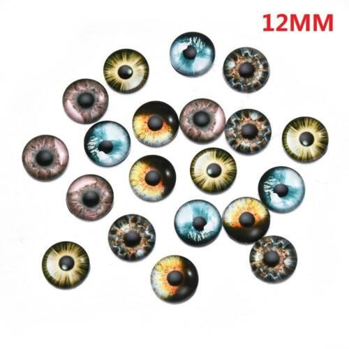 20X Fashion Glass Doll Eyes Animal DIY Craft Eyeballs Jewelry Handmade 8//12//18mm